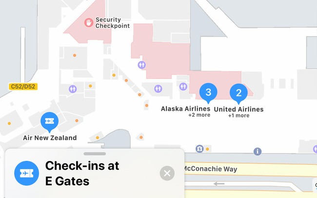 apple maps vancouver airport
