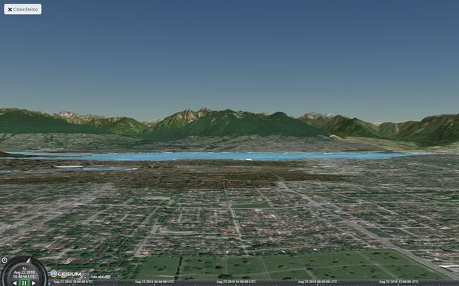 Cesium Vancouver Terrain
