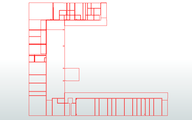 A floorplan in AutoCAD DWG