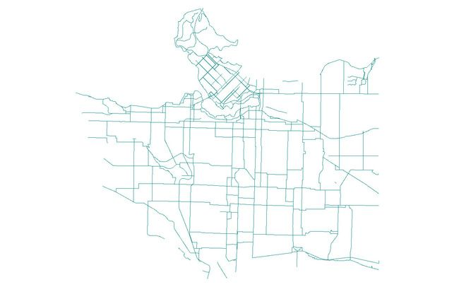 vancouver bike route shapefile