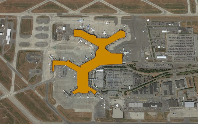 YVR Airport Google Earth